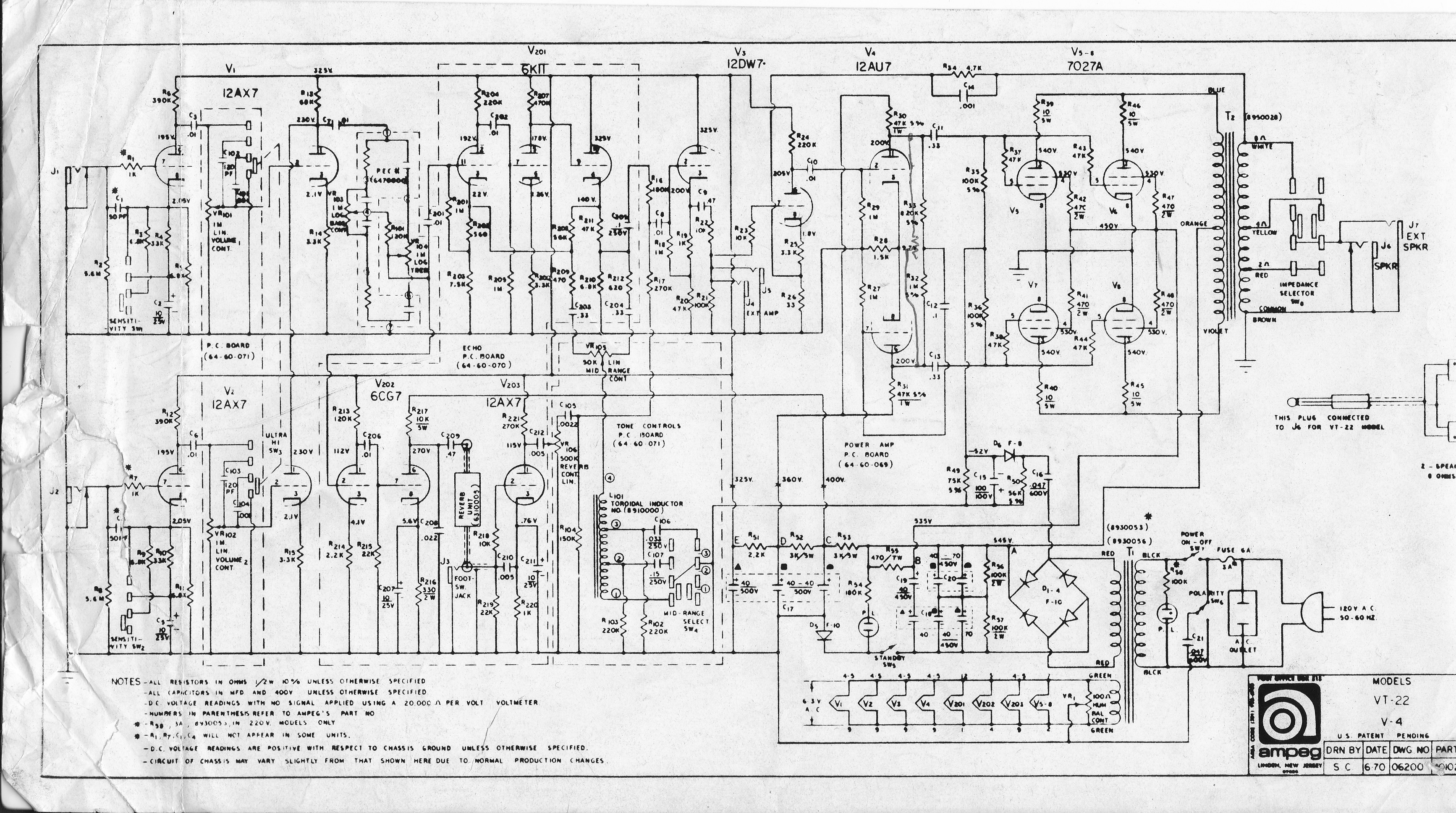 Vintage Ampeg | Docs on fender bassman schematic, marshall jtm 45 schematic, fender twin schematic, fender 5f6a schematic, fender champ schematic, bugera schematic, rlp 100 pro 100 schematic, mackie preamp schematic, vibro-king schematic, fender deluxe schematic, epiphone valve junior schematic, amplifier schematic, hiwatt schematic, marshall super bass schematic, fender vibroverb schematic, fender super reverb schematic,
